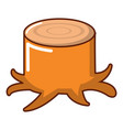 stump icon cartoon style vector image vector image