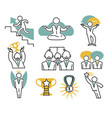 successful businessman concept isolated icons vector image vector image