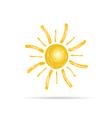 sun color vector image vector image