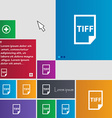 TIFF Icon sign buttons Modern interface website vector image