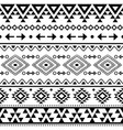 tribal geometric aztec seamless pattern vector image vector image