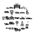 two wheeler icons set simple style vector image vector image