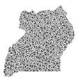 uganda map of triangles vector image