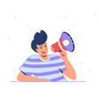 voice reminder and community announcement with vector image vector image