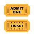 Flat design vintage cinema tickets vector image