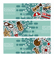 set of horizontal banners about hawaii vector image