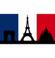 French Design with Paris Flag vector image