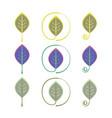 logo leaf eco sign set vector image