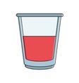 delicious juice glass vector image