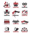 set of carnival logos vector image