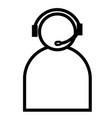 telemarketer icon vector image