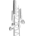3d base station receiver telecommunication tower