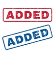 Added Rubber Stamps vector image vector image