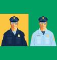 american policemen vector image vector image