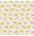 Animal seamless pattern of dog silhouettes vector image vector image