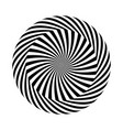 black and white round abstract vector image