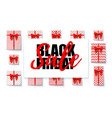 black friday sale sales banner with design vector image vector image