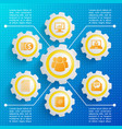 business web design background vector image vector image