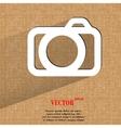 Camera Flat modern web design on a flat geometric vector image