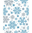 christmas seamless pattern with silver snowflakes vector image vector image