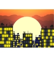 city skylines in late evening vector image