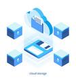 cloud storage concept 05 vector image vector image