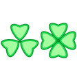 clover trefoil symbol vector image