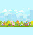 colorful playground in city vector image