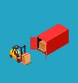 concept marine cargo port unloading of sea cargo vector image vector image