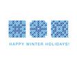 cross winter2 vector image vector image
