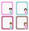 cute cards notes stickers labels tags with vector image