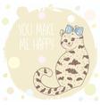 cute kitten doodle vector image vector image