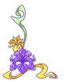 decorative element with iris flowers art nouveau vector image