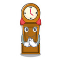 devil grandfather clock mascot cartoon vector image vector image