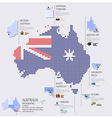 Dot And Flag Map Of Australia Infographic Design vector image vector image