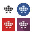 dotted icon light snow weather in four vector image