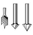 Drill bits vector image vector image