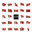 east timor flag on a white vector image vector image