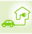 Eco car make a home icon vector image vector image