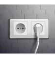 Electric Socket Cabel Plugged vector image vector image