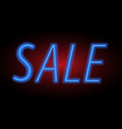 for sale sign neon light vector image vector image
