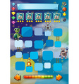 Game template with robots in background vector image vector image