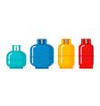 gas cylinder tank lpg propane bottle icon vector image vector image