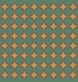 geometric pattern with green diamonds vector image vector image