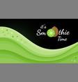 green kiwi smoothie logo vitamin shake banner vector image vector image