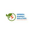 green leave logo energy logo design vector image