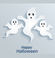 halloween background with ghosts paper design vector image vector image
