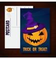 Halloween funny postcard vector image