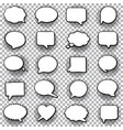 hand drawn set speech bubbles halftone vector image