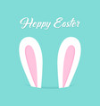 happy easter bunny vector image